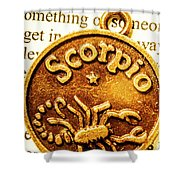Star Sign In Scorpio Shower Curtain