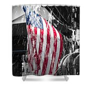 Star Spangled Splash  Shower Curtain