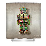 Star Strider Robot Psyc Shower Curtain