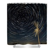 Star Trail In Hays, Ks Shower Curtain