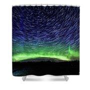 Star Trails And Aurora Shower Curtain