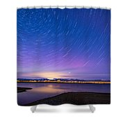 Star Trails And Auroras Shower Curtain
