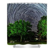 Star Trails At Sunken Meadow State Park Shower Curtain