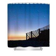 Star Trails In Wellfleet Cape Cod Shower Curtain