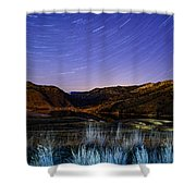 Star Trails Over Hauser Shower Curtain