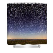 Star Trails Over Mountains Shower Curtain