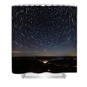 Star Trails Over Whitesburg Shower Curtain