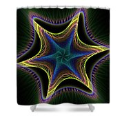 Star Twist Spiral Shower Curtain