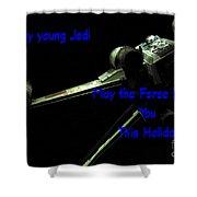 Star Wars Birthday Card 7 Shower Curtain