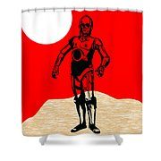 Star Wars C-3po Collection Shower Curtain