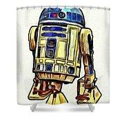 Star Wars R2d2 Droid - Da Shower Curtain