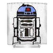 Star Wars R2d2 Droid Robot Shower Curtain
