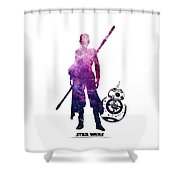 Star Wars Rey And Bb-8 Shower Curtain