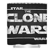 Star Wars The Clone Wars Chalkboard Typography Shower Curtain