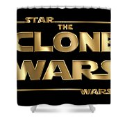 Star Wars The Clone Wars Typography Shower Curtain