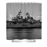 Starboard Boxer Shower Curtain