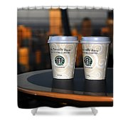 Starbucks At The Top Shower Curtain