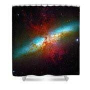 Starburst Galaxy M82 Shower Curtain