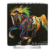 Starburst Pony Shower Curtain
