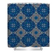 Stardrop Diamond Blue Shower Curtain
