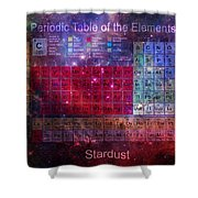 Stardust Periodic Table Shower Curtain