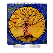 Stardust Tree Shower Curtain