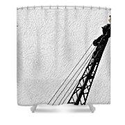 Stare Contest Impasto Shower Curtain