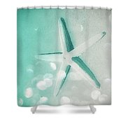 Starfish Bubbles In The Twilight Shower Curtain