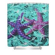 Starfish In Love Shower Curtain