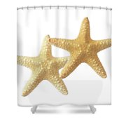 Starfish On White Shower Curtain