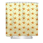 Starfish Pattern. Shower Curtain