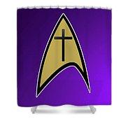Starfleet Pastor  Shower Curtain
