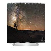 Stargazers Under The Night Sky Shower Curtain