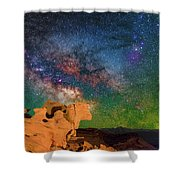 Stargazing Bull Shower Curtain