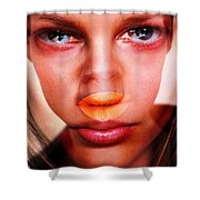 Staring At Space 2 Shower Curtain