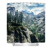 Staring At The Continental Divide Shower Curtain