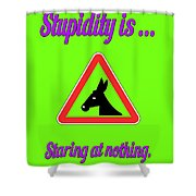 Staring Bigstock Donkey 171252860 Shower Curtain