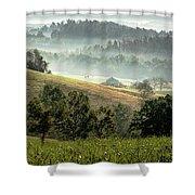 Stark Ridge Morning Shower Curtain