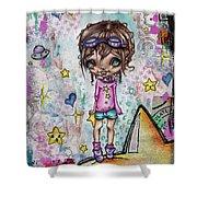 Starla Jones The 3rd Intergalactic Star Jumper Shower Curtain