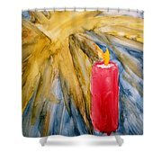 Starlight And Candlelight Shower Curtain