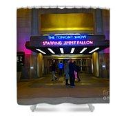 Starring Jimmy Fallon Shower Curtain