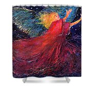 Starry Angel Shower Curtain