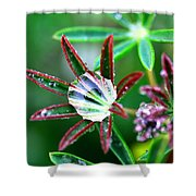 Starry Droplets Shower Curtain