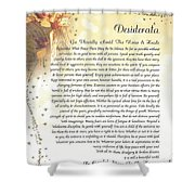 Starry Guardian Angel Desiderata Shower Curtain