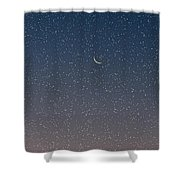 Starry Morning Sky Shower Curtain