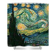 Starry Night After V. Vangogh Shower Curtain