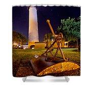 Starry Night Big Light Shower Curtain