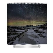 Starry Night In Iceland Shower Curtain