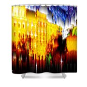 Starry Night In Prague Shower Curtain