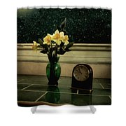 Starry Night In Spring Shower Curtain
